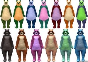 Костюмы медведя и енота в Sims 4