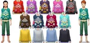 Детский свитер с рубашкой