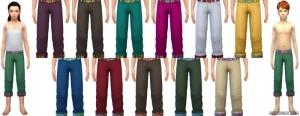 детские штаны в симс 4 жизнь в городе