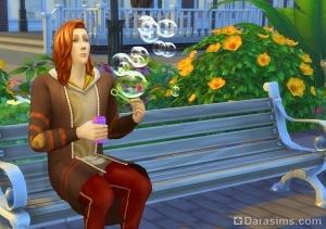 Мыльные пузыри в Симс 4 Жизнь в городе