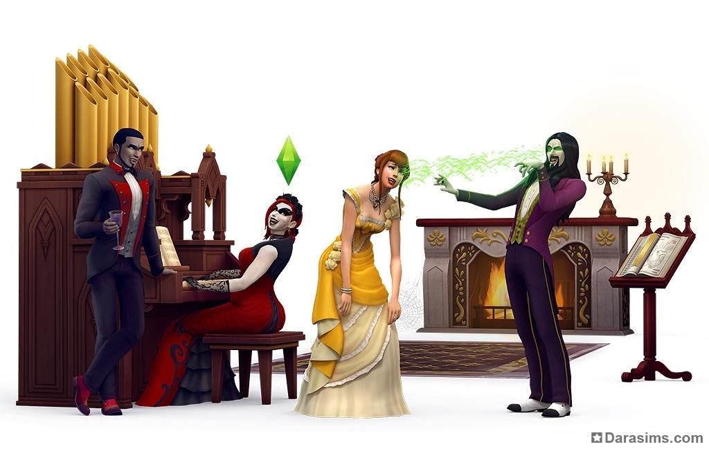 купить симс 4 вампиры игровой набор