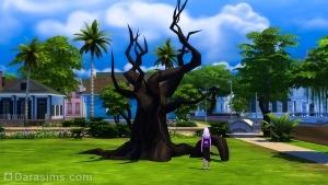Подвесное сиденье на дереве